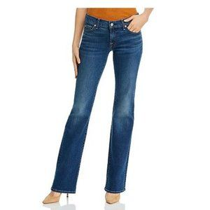 7 For All Mankind Bootcut Mid-Rise Jeans, Blue Size 27